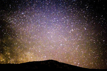 Starry night over the Rtanj mountain by Liliaceae7