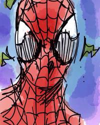 Spidey iphone sketch by larthosgrr8