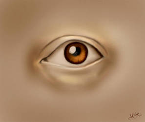 An Eye - Digital Painting by iadinaplus