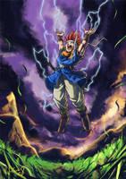 Crono prepares Lightning by rafaelventura