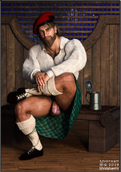 Balian And His New Kilt by bhodahamna
