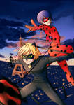 Miraculous Ladybug and Chat Noir by Kiwa007