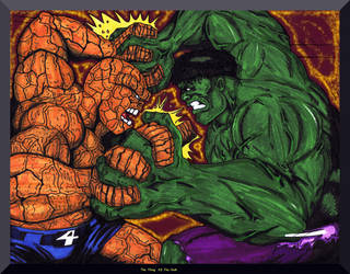 The Thing vs The Hulk by Lpsalsaman
