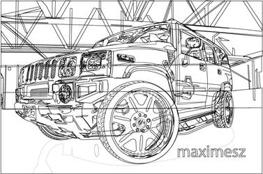 hummer H2 outline by maximesz