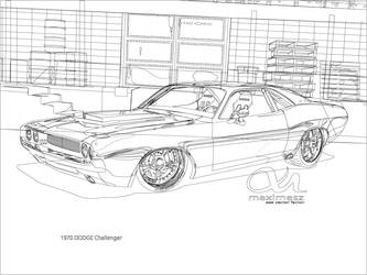 1970 Dodge Challenger Outline by maximesz