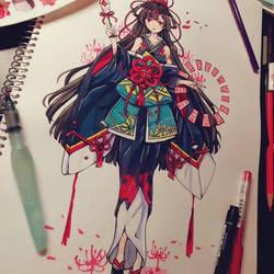 Higanbana - Onmyoji Fan Art Contest Submission by Chiyoko176