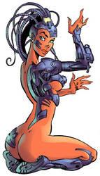 cyber_girl by komardin