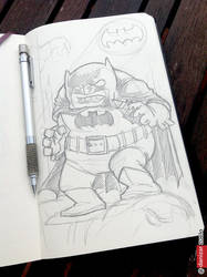 008 Doodle Batman Dark Knight by yellowpollo