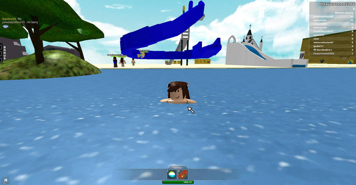 Swimming At Roblox Beach By Mikugirl22 On Deviantart