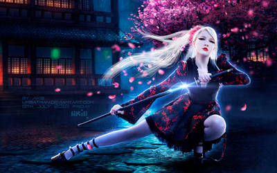 Sakura, the lone Samurai Girl by umbatman