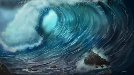 A big Wave by umbatman