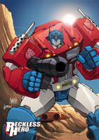 Optimus Prime by RecklessHero