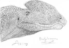 Theropod portraits: Dilophosaurus wheterilli V2 by ShinRedDear
