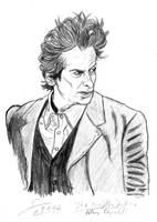 Raggedy Twelfth Doctor sketch portrait by ShinRedDear