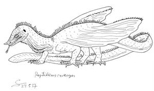 Reptilicus redesign lineart by ShinRedDear