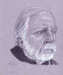 Jacques Chessex portrait sketch by ShinRedDear