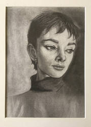 Audrey Hepburn sketch portrait by ShinRedDear