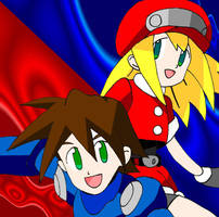 Megaman y Roll by Darkiz