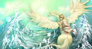 Pegasus and Bellerophon by forgottenpantaloons