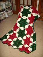 Christmas star afghan by CherokeeCampFireGirl