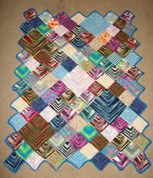 Variegated yarn car blanket by CherokeeCampFireGirl