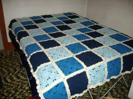 Blue Wedding Afghan by CherokeeCampFireGirl