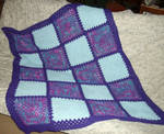 Purples granny blanket by CherokeeCampFireGirl