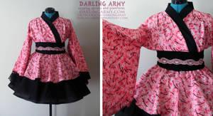 Pink Sakura Kimono Dress by DarlingArmy