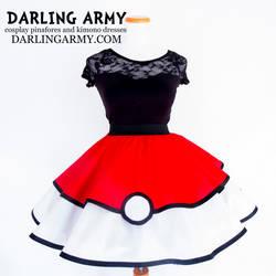 Pokeball Pokemon Cosplay Lolita Skirt by DarlingArmy