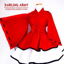 Inuyasha Cosplay Wa Lolita Kimono Dress by DarlingArmy