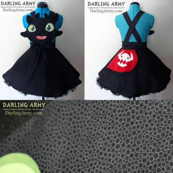 Toothless HtTYD Cosplay Pinafore Dress Accessory by DarlingArmy