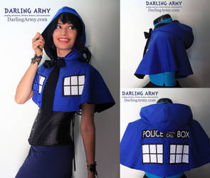 TARDIS Doctor Who Cosplay Hooded Capelet by DarlingArmy