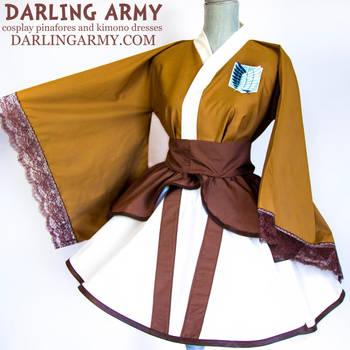 Attack on Titan Survey Corps Cosplay Kimono Dress by DarlingArmy