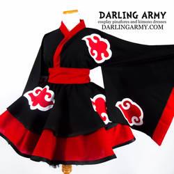 Akatsuki Naruto Cosplay Lolita Kimono Dress by DarlingArmy