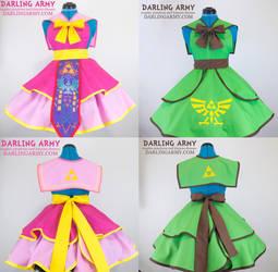 Sailor Zelda and Sailor Link Cosplay Pinafores by DarlingArmy