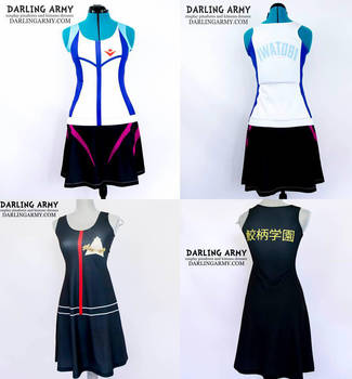 Free! Iwatobi and Samezuka Cosplay Dresses by DarlingArmy