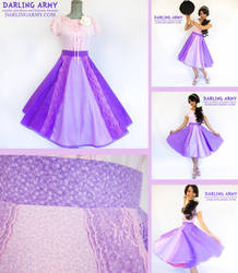 Rapunzel Tangled Disneybound Retro Cosplay Skirt by DarlingArmy