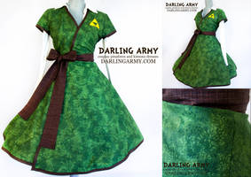Link Legend of Zelda Inspired Cosplay Wrap Dress by DarlingArmy