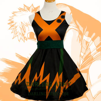 Bakugou My Hero Academia Printed Cosplay Dress by DarlingArmy