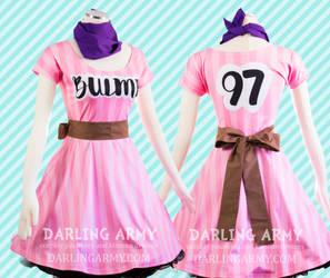Bulma Dragon Ball Pink Printed Cosplay Dress by DarlingArmy