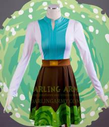 Rick Sanchez Rick and Morty Printed Cosplay Dress by DarlingArmy