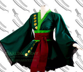 Zoro One Piece Cosplay Kimono Dress by DarlingArmy