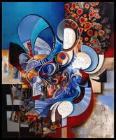 Thebes abstract painting by Amytea