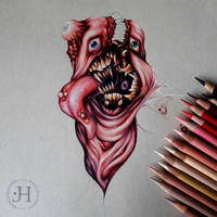 Flesh Monster - WiP by magpie-of-plutonium