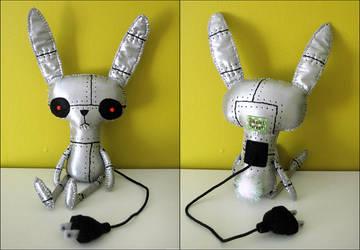 Sprocket the Robot Rabbit by BibelotForest