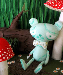 Stitch the Zombie Bear by BibelotForest