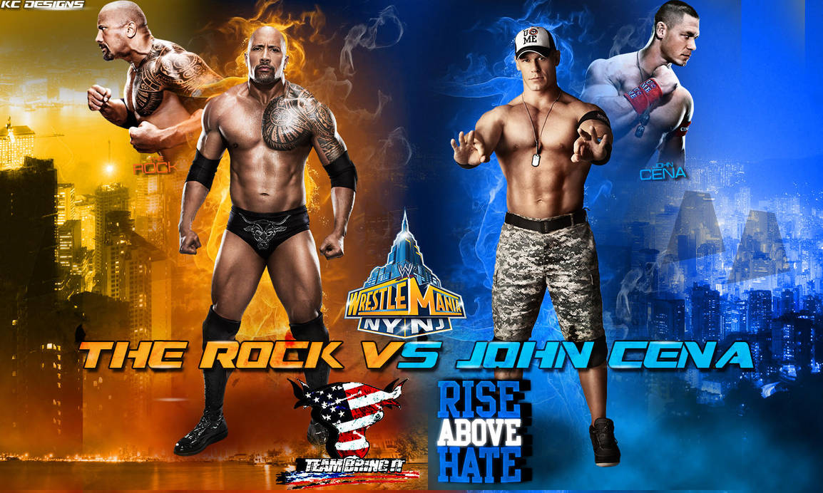 Wrestlemania 29 The Rock Vs John Cena Wallpaper By Kcwallpapers On