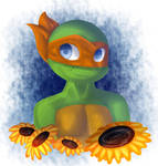 Mikey in Flowers by VenusdeMilo2703