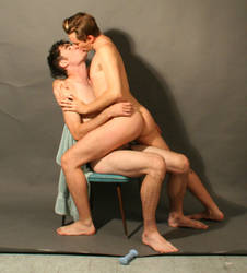 Kissing Nude Men 8a by TheMaleNudeStock