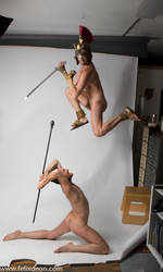 Nude Soldiers Fighting  2 by TheMaleNudeStock